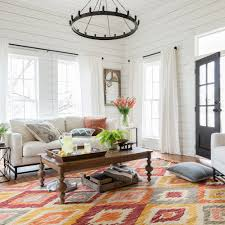 Modern Rugs Affordable by Magnolia Home Brushstroke Rug By Joanna Gaines Silver Sunset