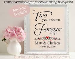 2nd year wedding anniversary second anniversary etsy