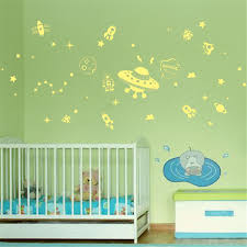 outer space galaxy glow in the dark wall sticker creative design outer space galaxy glow in the dark wall sticker creative design fluorescent wall sticker children bedroom decor anime stickers in wall stickers from home