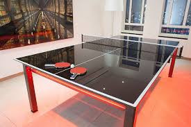 black ping pong table top glass ping pong conversion top in design table tennis