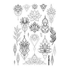 set of 2 waterproof temporary fake tattoo stickers vintage black