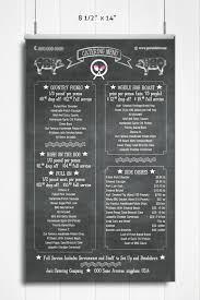 chalkboard style catering or restaurant menu template the