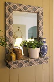 Mod Home Decor A Fabric And Mod Podge Covered Mirror Hometalk