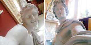 guy makes statues take selfies by cleverly positioning his camera
