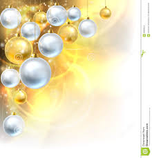 baubles gold and silver background stock vector image