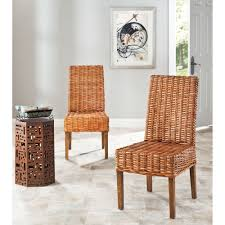 Safavieh Dining Room Chairs by Safavieh Rural Woven Dining St Thomas Indoor Wicker Honey Dining