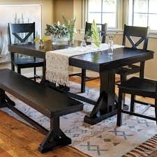 antique black verona trestle table world market