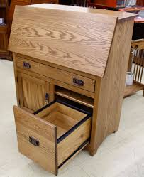 Secretary Desk With Drawers by Mission Large Secretary Desk With File Drawer Amish Traditions Wv