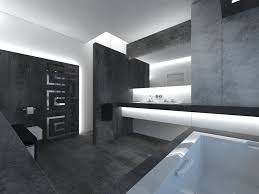 unusual bathroom design with elegant black grey and white themes
