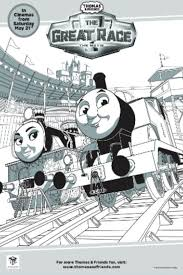 thomas colouring pages race