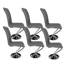 chaise pas cher lot de 6 chaise grise design lili pas cher tooshopping com
