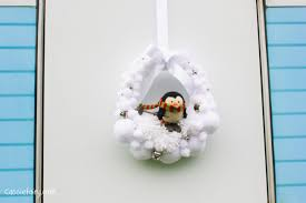 living room diy snowball wreath baby penguin