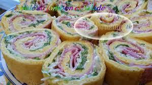 cuisine rapide thermomix roulé au jambon et salade pâte au thermomix cook