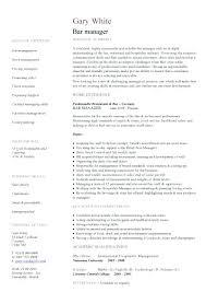 sample bar manager resume general manager resume sample assistant