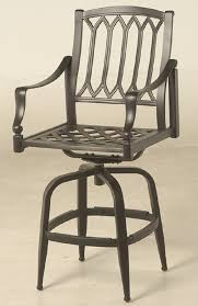 Bar Height Swivel Patio Chairs Lancaster By Hanamint Luxury Cast Aluminum Patio Furniture Swivel