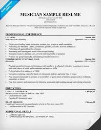 Musician Resume Samples by Musician Resume Objective