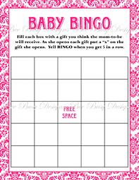 baby shower bingo printable hot pink damask baby shower bingo bee busy designs