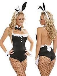 Halloween Costumes Playboy Bunny Ladies 5 Piece Playboy Bunny Fancy Dress Costume