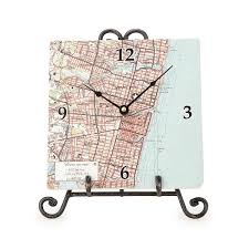 personalized map clock custom clock uncommongoods
