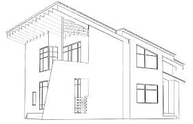 house drawing picture u2013 modern house