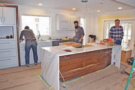 kitchen island remodel completed miller ave remodel forward design build remodel