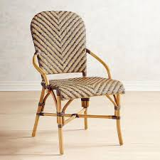 Wicker Bistro Chairs Two Toned Rattan Bistro Chair