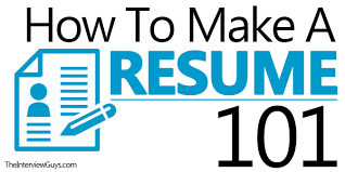 How To Prepare A Job Resume by How To Make A Resume 101 Examples Included