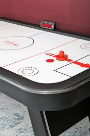 84 air hockey table airzone play 84 air hockey table with led scoring reviews wayfair