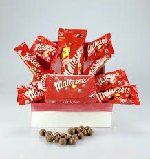 maltesers gift wrapped hamper box personalised message large