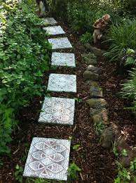 to make decorative stepping stones