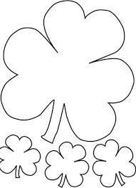 the irish called three leaf clover as shamrock coloring page the