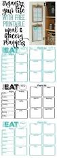 Menu Planner With Grocery List Template Pantry Makeover Free Printable Weekly Meal Planner And Shopping