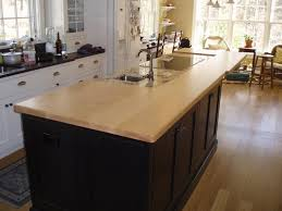 Maple Kitchen Island by Classic White Kitchen Brooks Custom