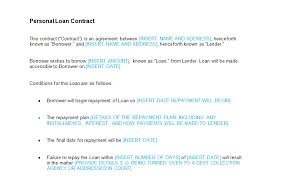 personal loan contract template bizorb