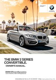 bmw 2 series convertible 2015 f23 owner u0027s manual