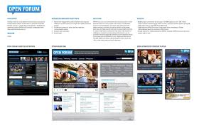 online class platform online business platform open forum print ad by digitas new york
