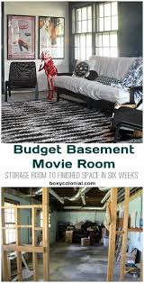 our basement movie and game room fall in love unfinished
