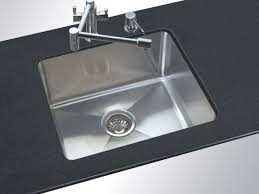 White Undermount Kitchen Sink Rectangle Sinks Lowes With Pretty Faucet And Black Countertop For