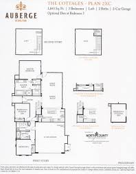 Floor Plans For Cottages by Auberge At Del Sur The Cottages Floor Plans New Homes