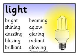 Light Synonyms Adjectives Synonyms Posters Sb11726 Sparklebox