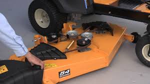 how to change the blades on rzt zero turn riding mowers youtube