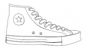 printable shoes shoe outline template free download clip art free
