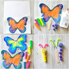 Butterfly Crafts For Kids To Make - how to make a gorgeous butterfly craft insect crafts butterfly