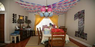 Decoration Birthday Party Home Home Party Decoration Ideas Of Goodly St Birthday Baby Pics