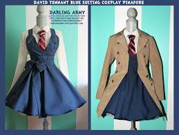 eleventh doctor halloween costume david tennant blue suiting cosplay pinafore by darlingarmy
