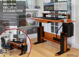 Motorized Sit Stand Desk Wellston Executive Sit Stand Desk Standard Size Caretta Workspace