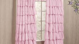 Sheer Ruffled Curtains Curtain 93 Awful Pink Ruffle Curtains Pictures Inspirations Pink