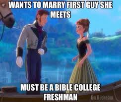 Frozen Movie Memes - anna is a bible college freshman from christian memes on