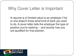 bharat employment cover letter