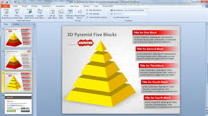 3d templates for powerpoint free 3d pyramid four blocks powerpoint template free powerpoint